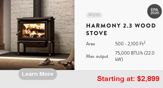 Harmony 2.3 stove learn more
